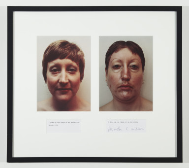 Martha Wilson, I Make Up the Image of My Perfection/I Make Up the Image of My Deformity, 1972/2008