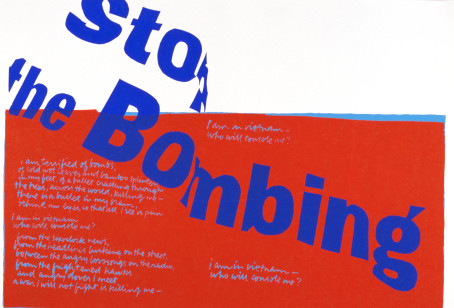 Sister Corita Kent, stop the bombing, 1967