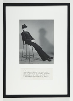 Martha Wilson, A Portfolio of Models, The Professional, 1972/2012