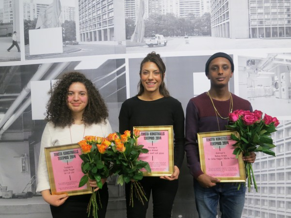 The winners: Sofia Pappa, Evin Ahmad and Nebay Araya