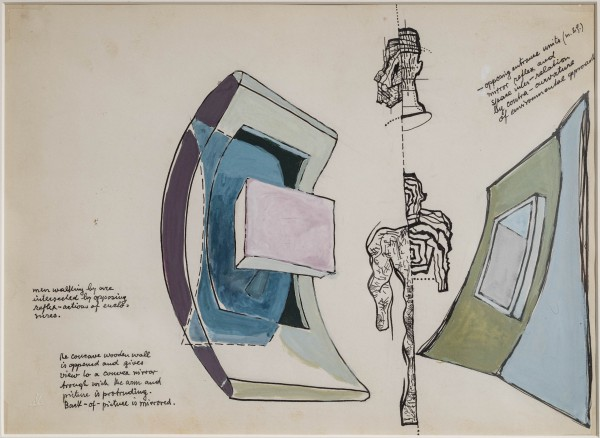 Study for concave wall viewing apparatus, 1942