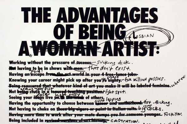 Ur LTTR No.5: The Advantages of Being a Lesbian Woman Artist av Ridykeulous
