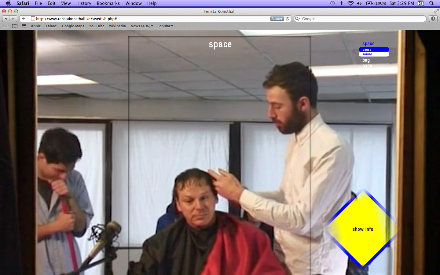 The Haircut Before The Party, Interview with David Graeber, Space på tenstakonsthall.se, 2012