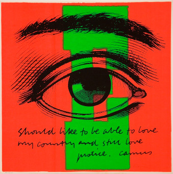 Sister Corita Kent, E eye love, 1968